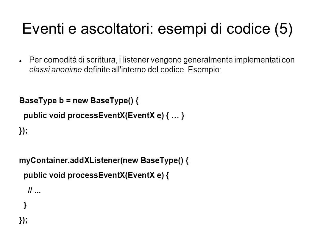 Eventi e ascoltatori: esempi di codice (5)