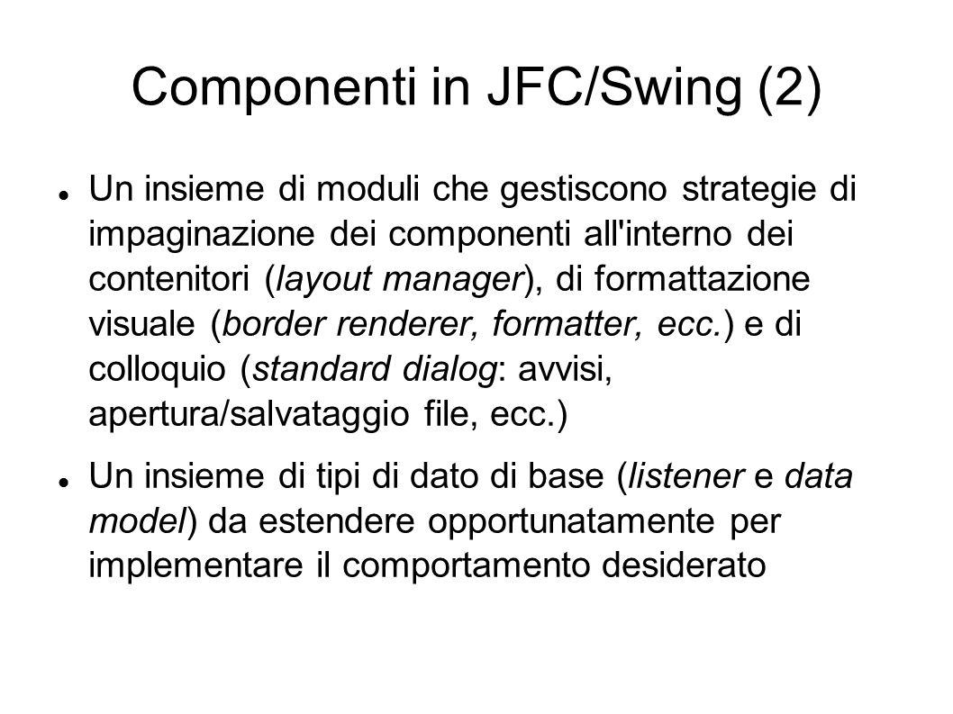 Componenti in JFC/Swing (2)