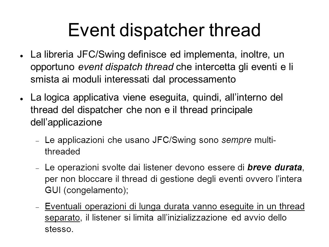 Event dispatcher thread