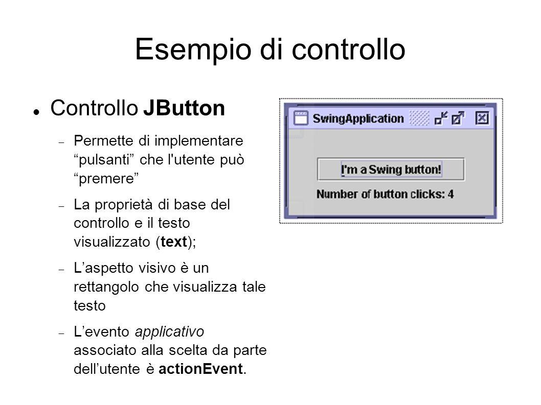 Esempio di controllo Controllo JButton