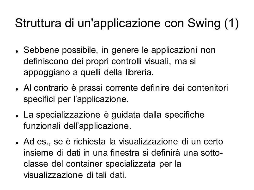 Struttura di un applicazione con Swing (1)