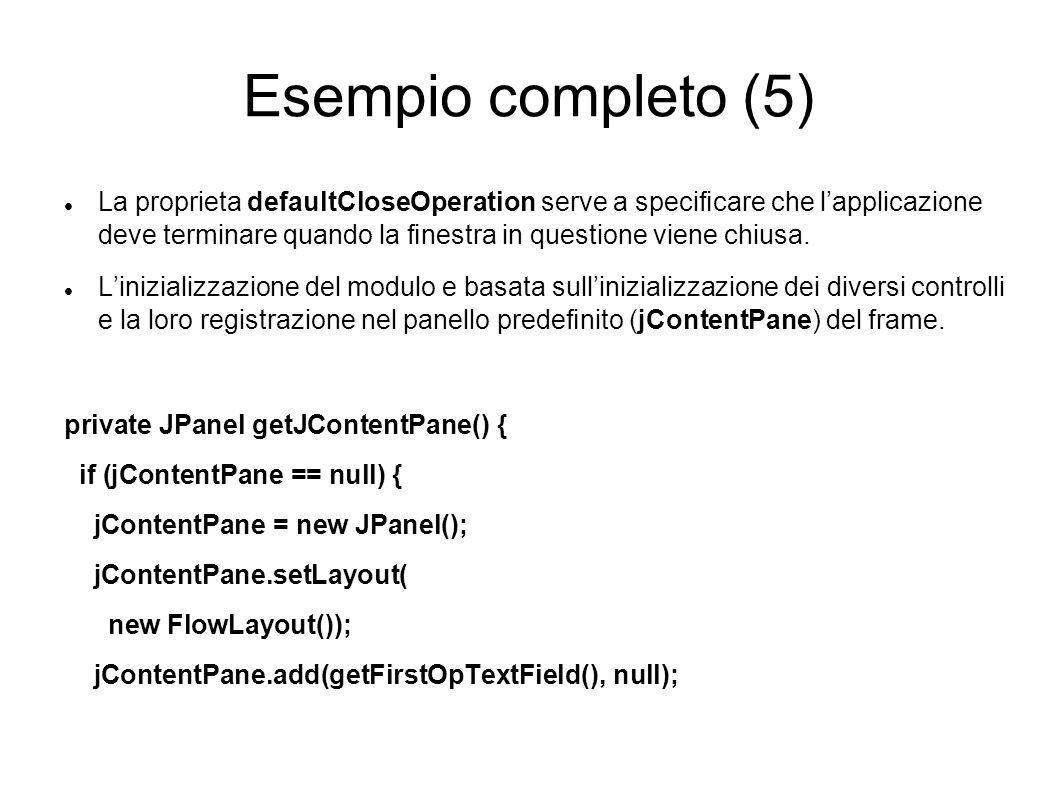 Esempio completo (5)