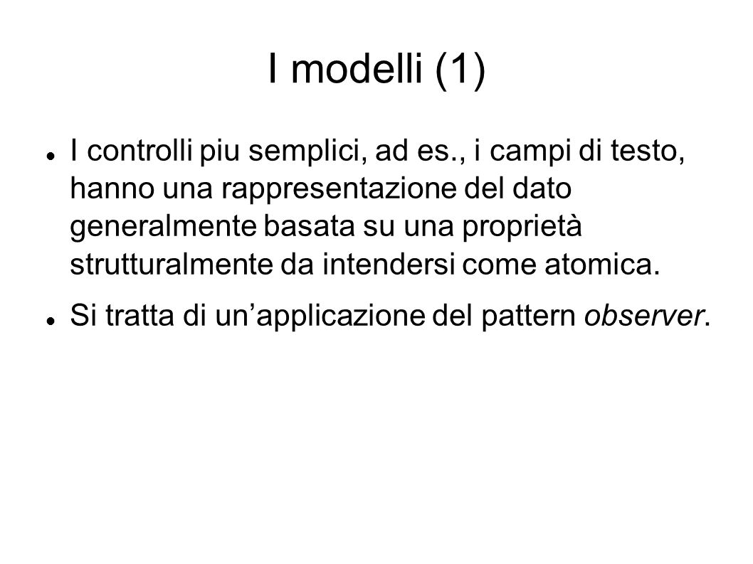 I modelli (1)