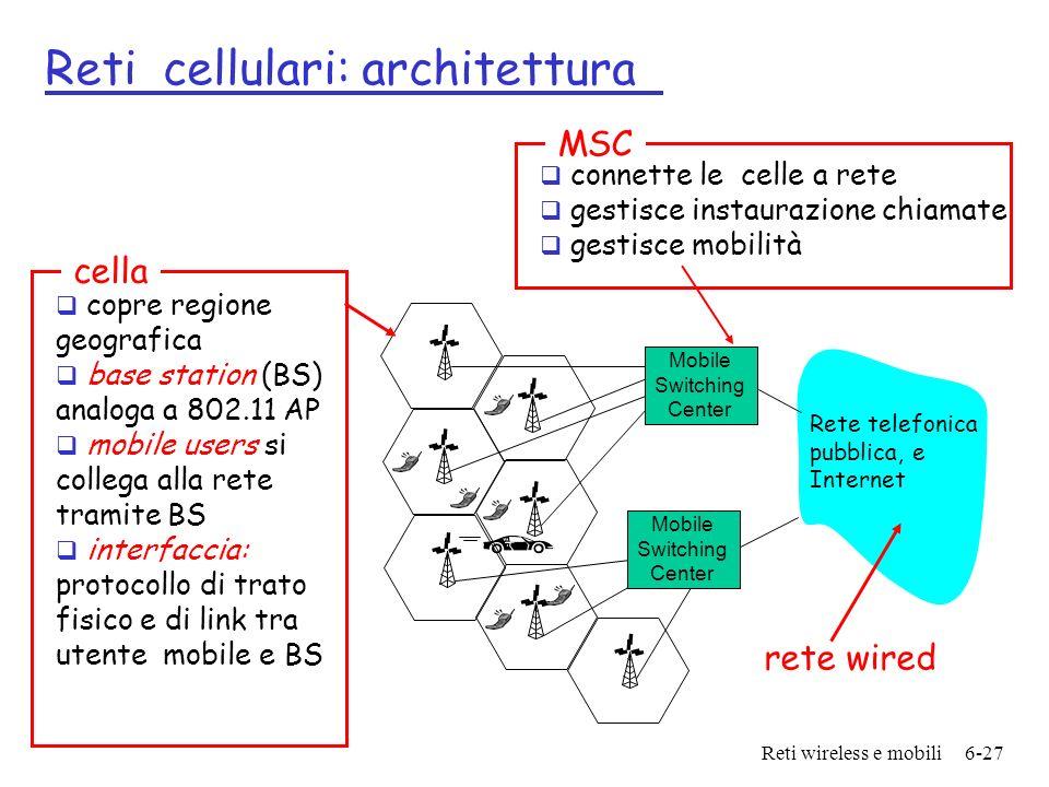 Reti cellulari: architettura