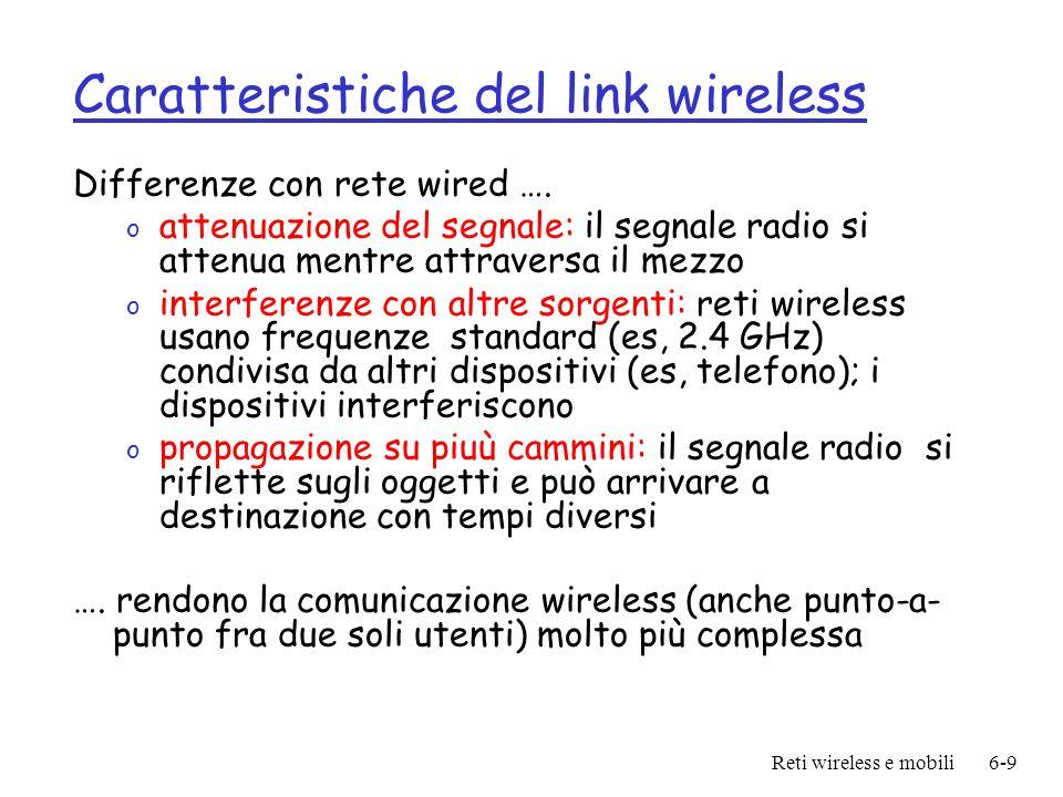 Caratteristiche del link wireless
