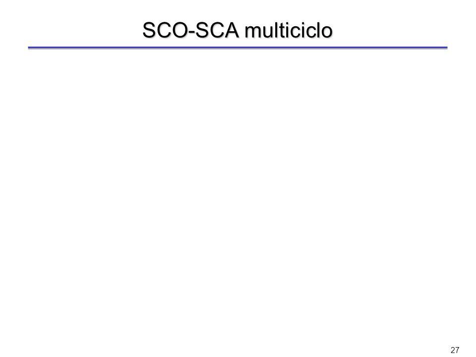 SCO-SCA multiciclo