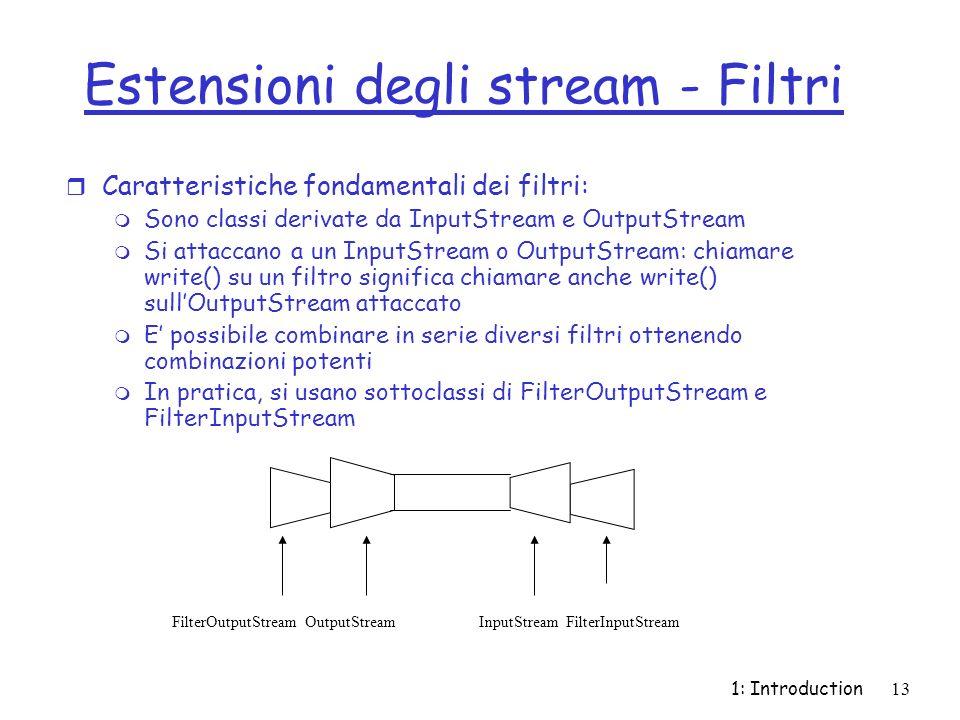 Estensioni degli stream - Filtri
