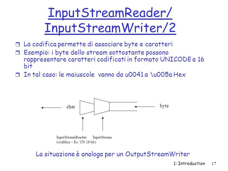 InputStreamReader/ InputStreamWriter/2