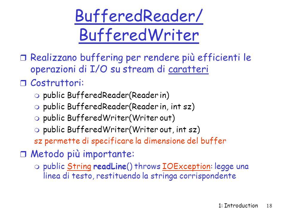 BufferedReader/ BufferedWriter