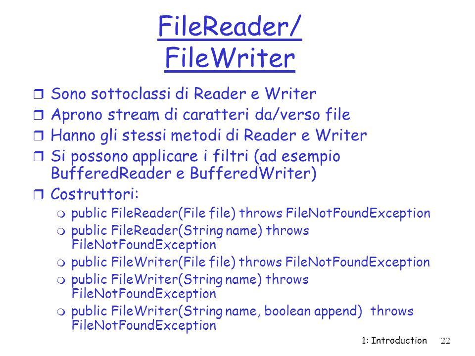 FileReader/ FileWriter