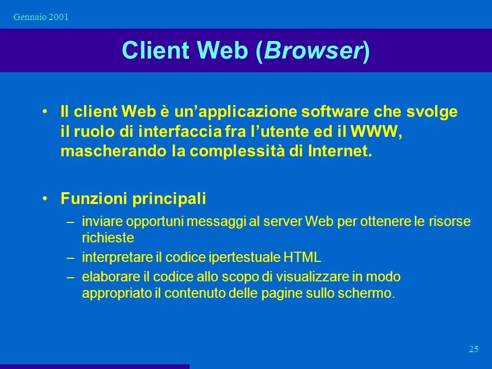 Gennaio 2001 Client Web (Browser)
