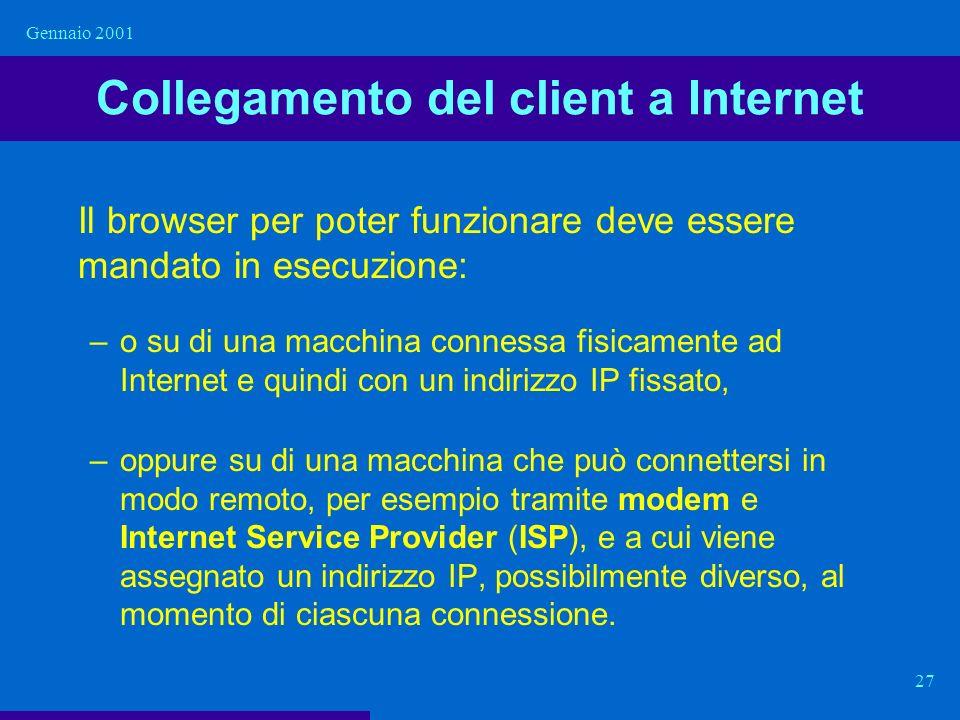 Collegamento del client a Internet