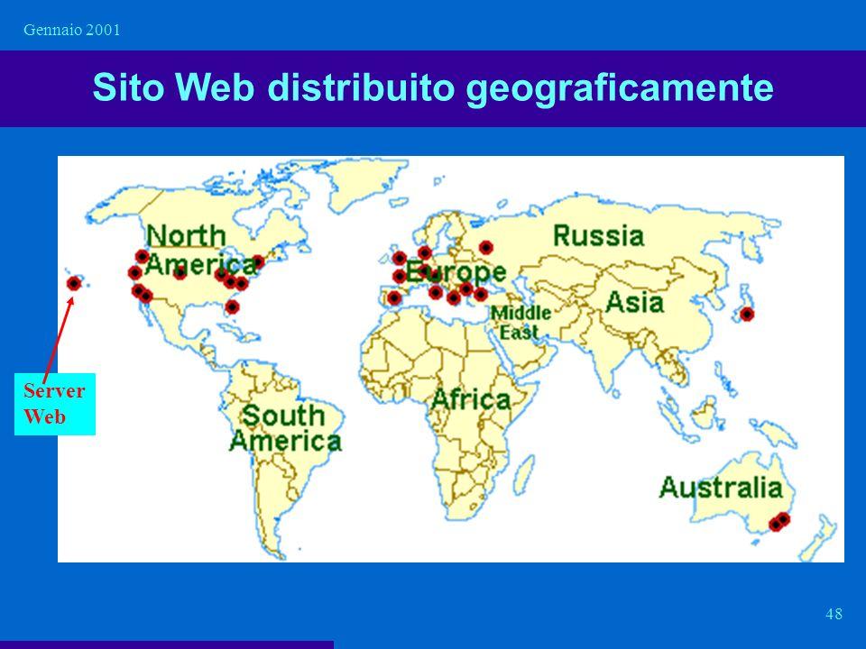 Sito Web distribuito geograficamente
