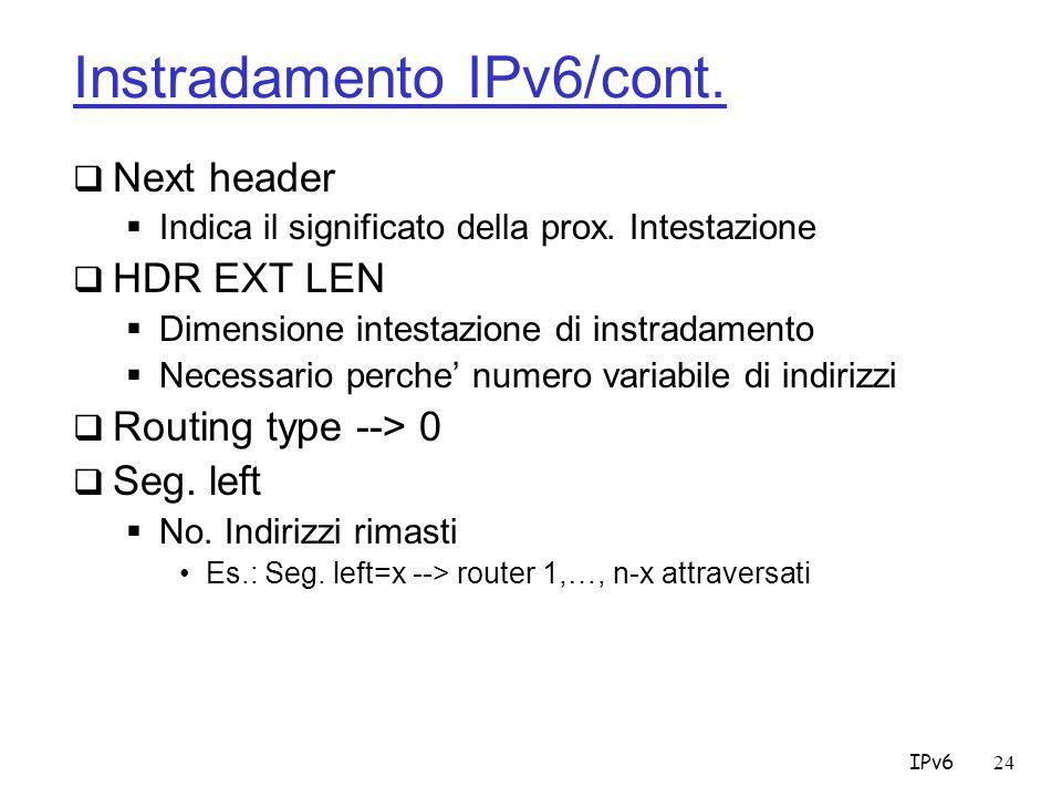 Instradamento IPv6/cont.