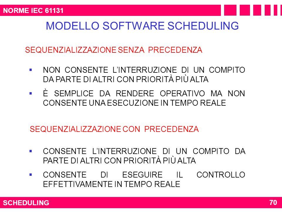 MODELLO SOFTWARE SCHEDULING
