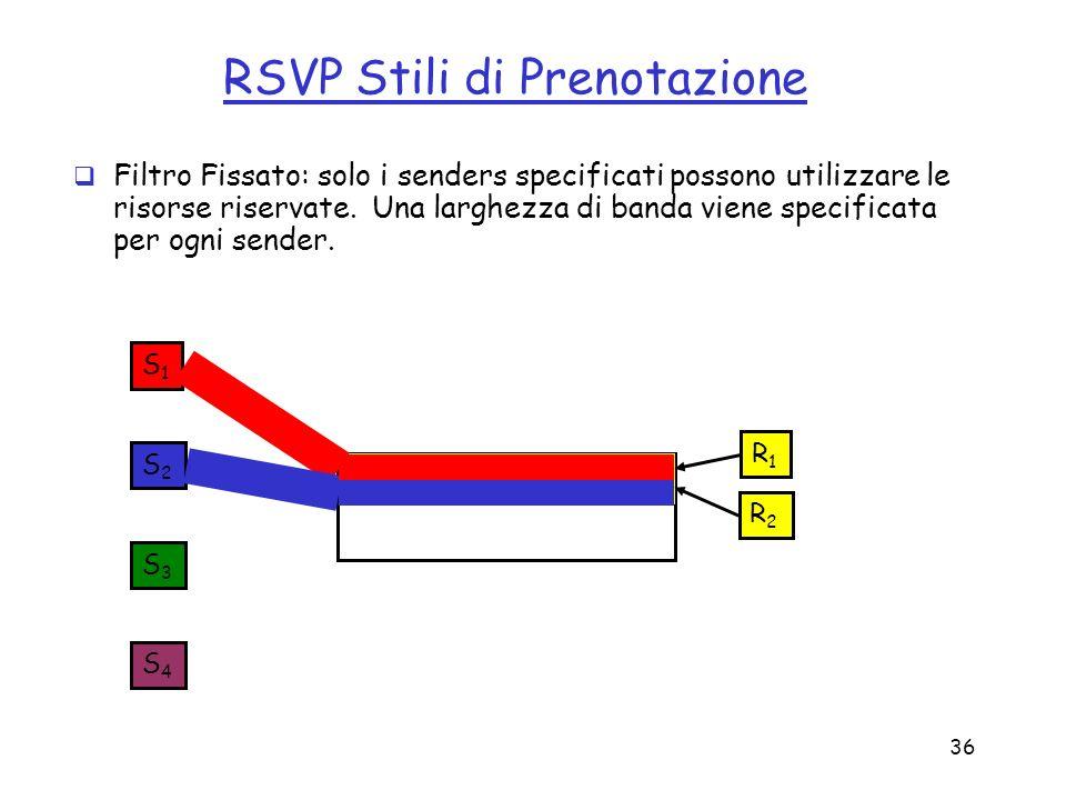 RSVP Stili di Prenotazione