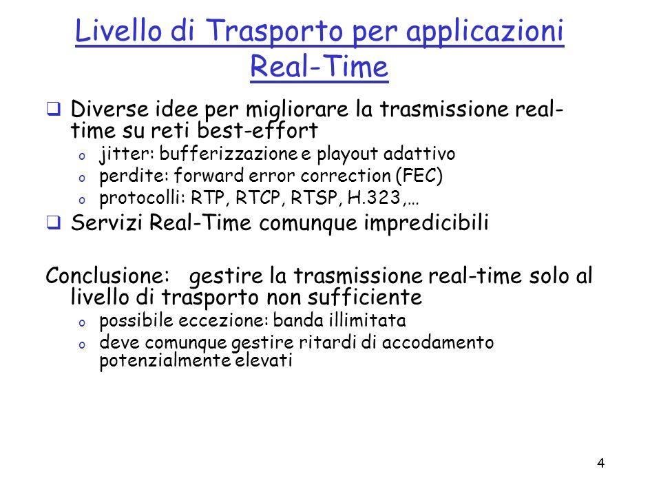 Livello di Trasporto per applicazioni Real-Time
