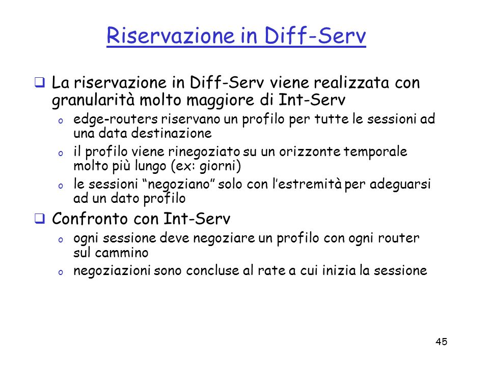 Riservazione in Diff-Serv