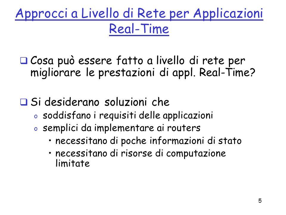 Approcci a Livello di Rete per Applicazioni Real-Time