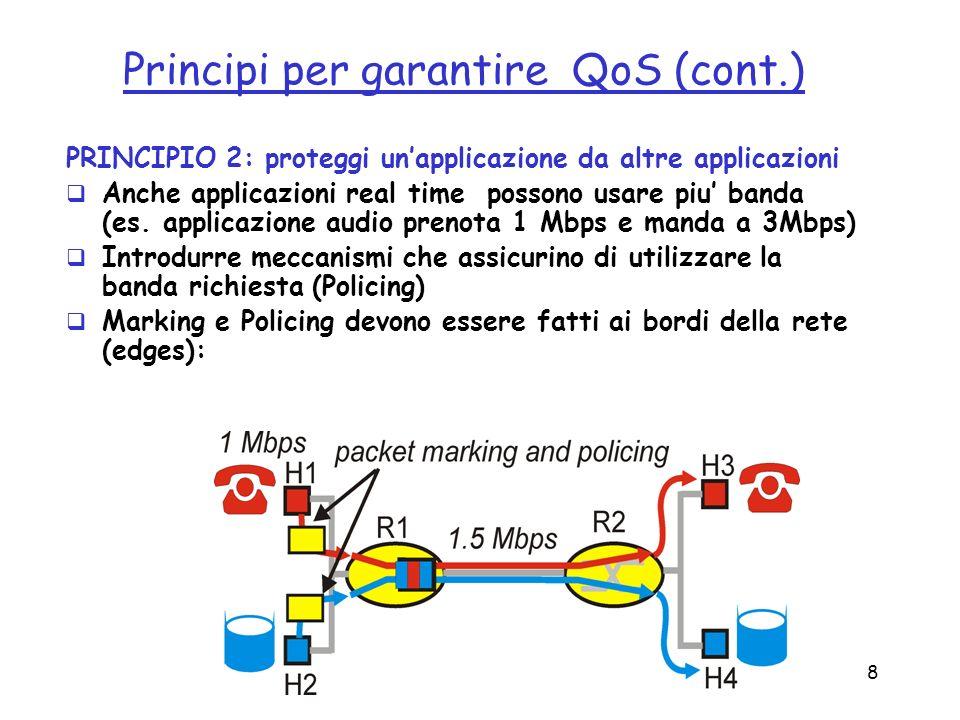 Principi per garantire QoS (cont.)