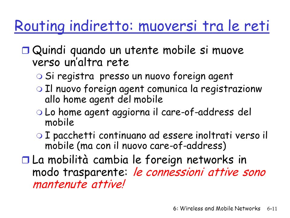 Routing indiretto: muoversi tra le reti