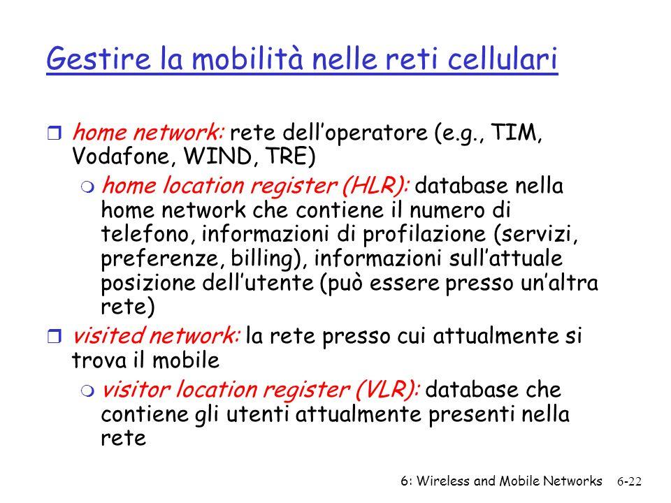 Gestire la mobilità nelle reti cellulari