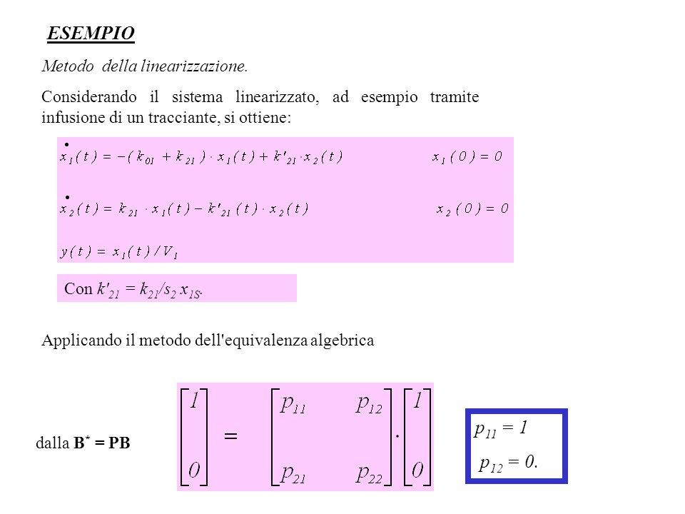 ESEMPIO p11 = 1 p12 = 0. Metodo della linearizzazione.