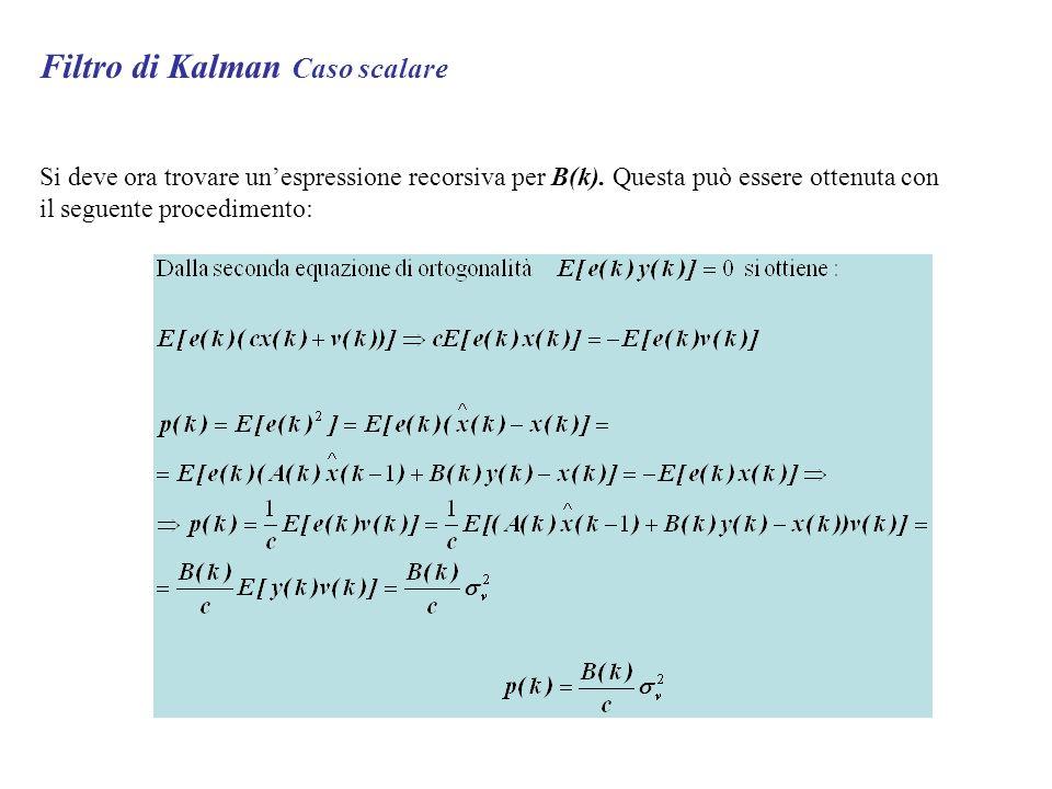 Filtro di Kalman Caso scalare