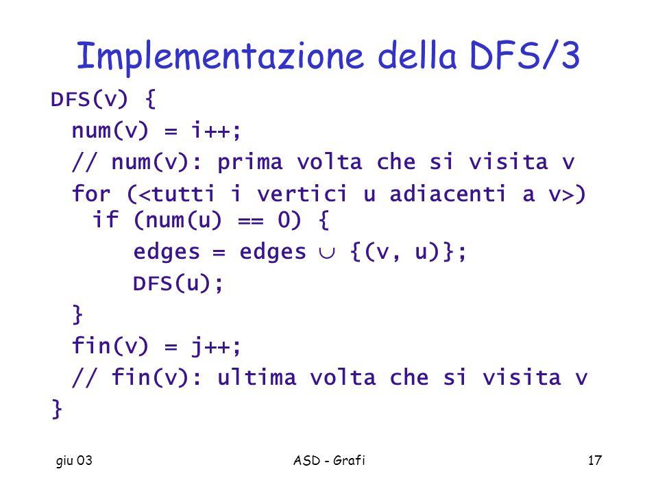 Implementazione della DFS/3