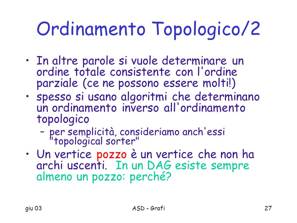 Ordinamento Topologico/2