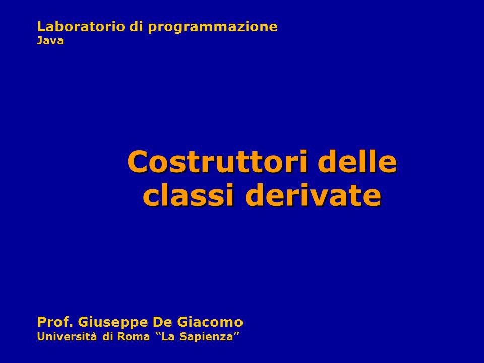 Costruttori delle classi derivate