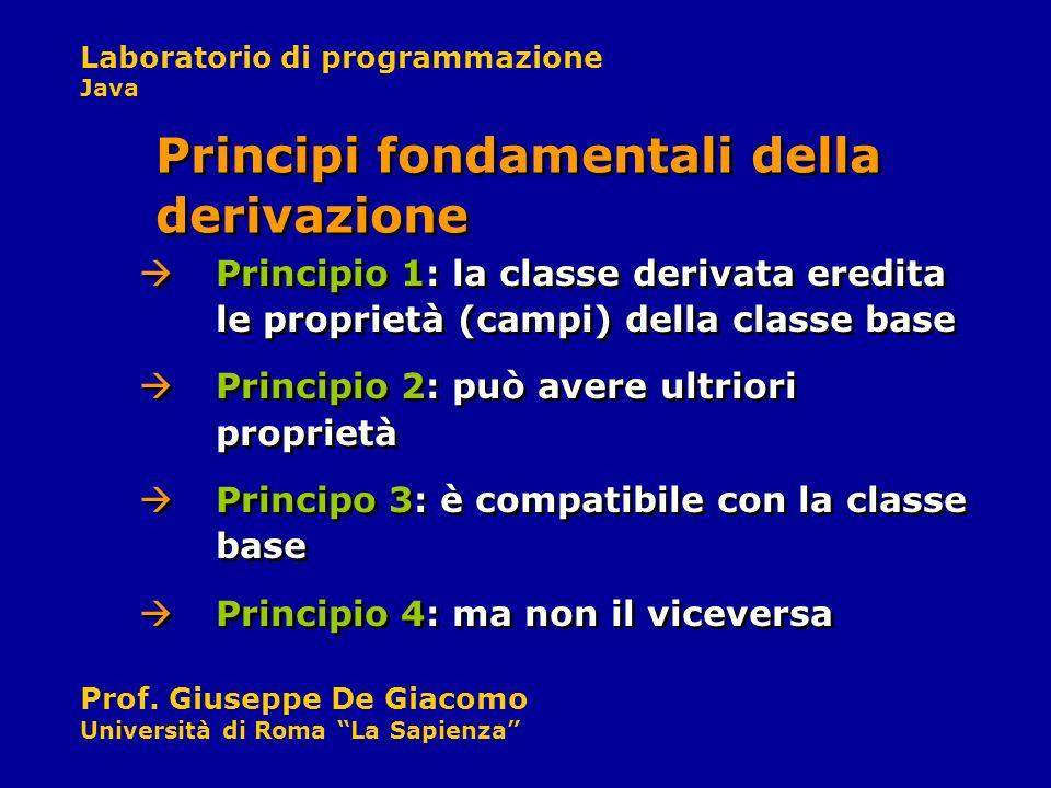 Principi fondamentali della derivazione