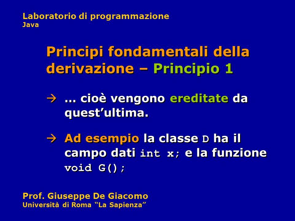 Principi fondamentali della derivazione – Principio 1
