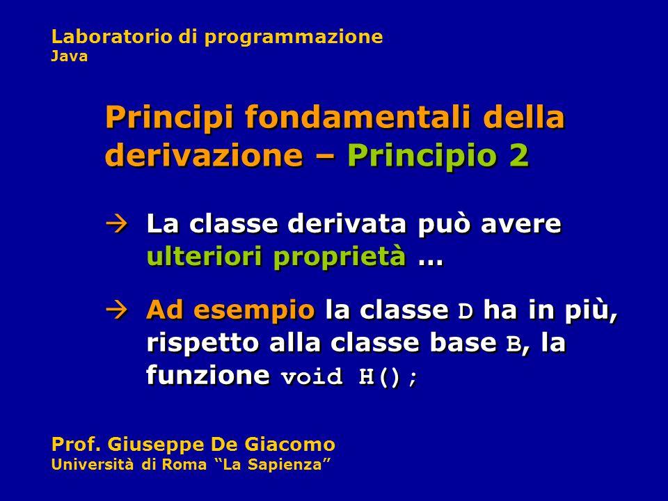Principi fondamentali della derivazione – Principio 2