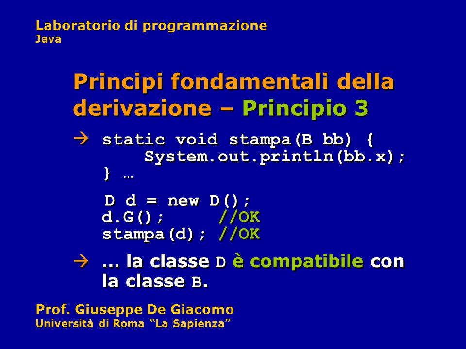 Principi fondamentali della derivazione – Principio 3