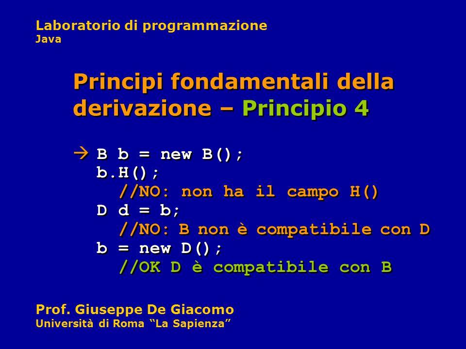 Principi fondamentali della derivazione – Principio 4