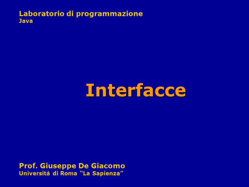 Interfacce