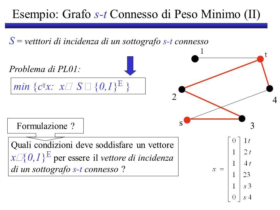 Esempio: Grafo s-t Connesso di Peso Minimo (II)