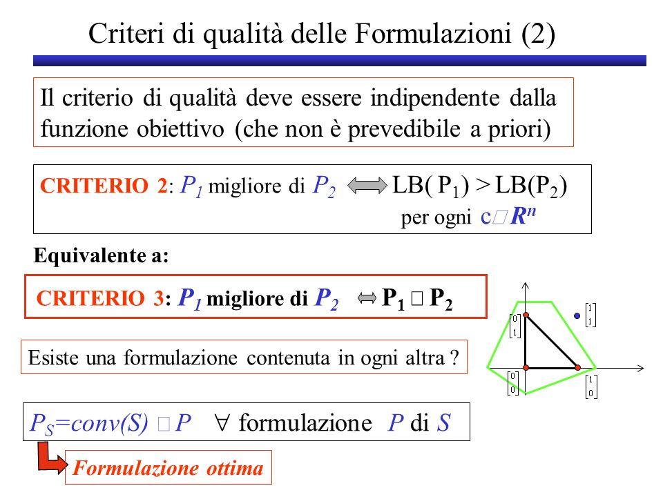 Criteri di qualità delle Formulazioni (2)