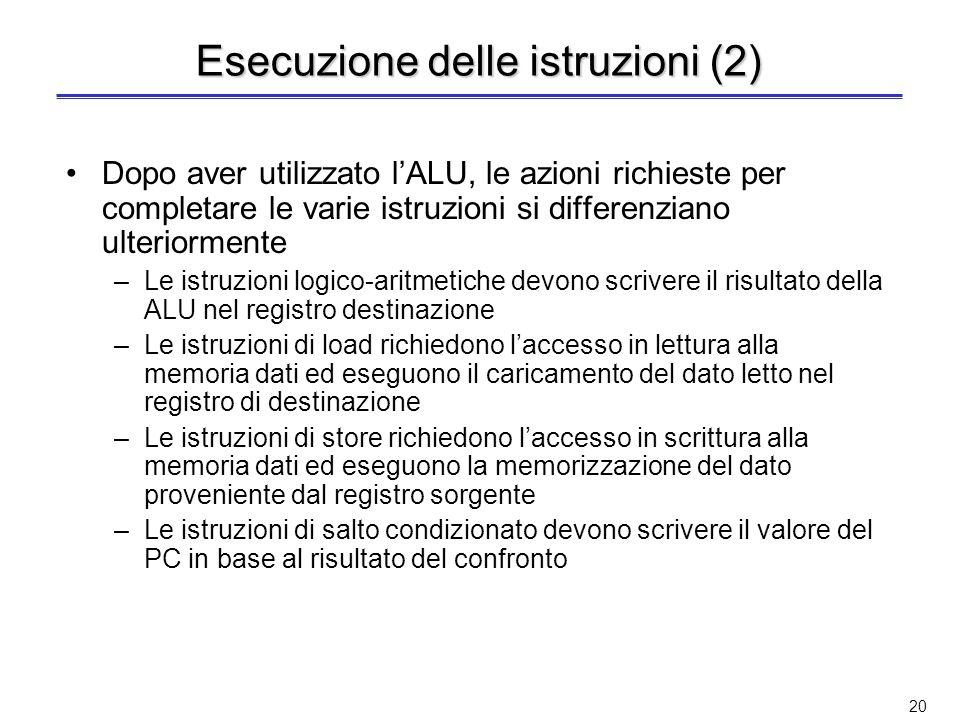 Esecuzione delle istruzioni (2)