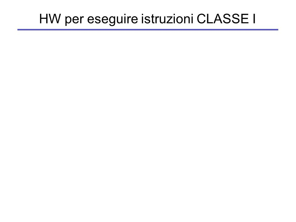 HW per eseguire istruzioni CLASSE I