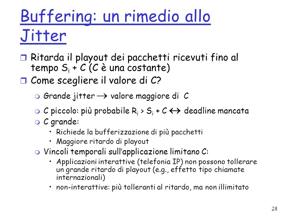 Buffering: un rimedio allo Jitter