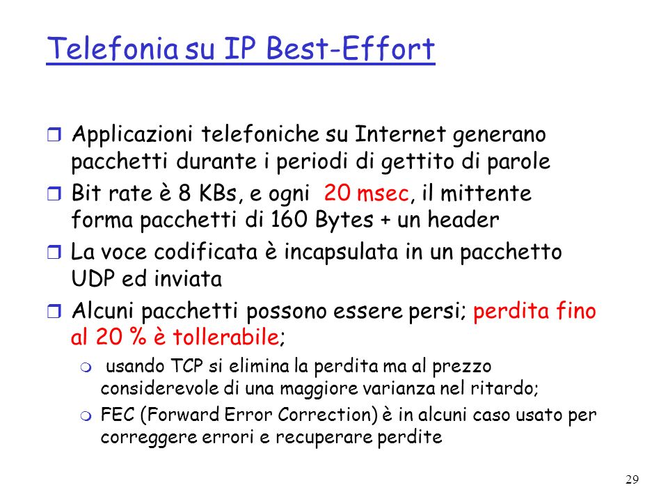 Telefonia su IP Best-Effort