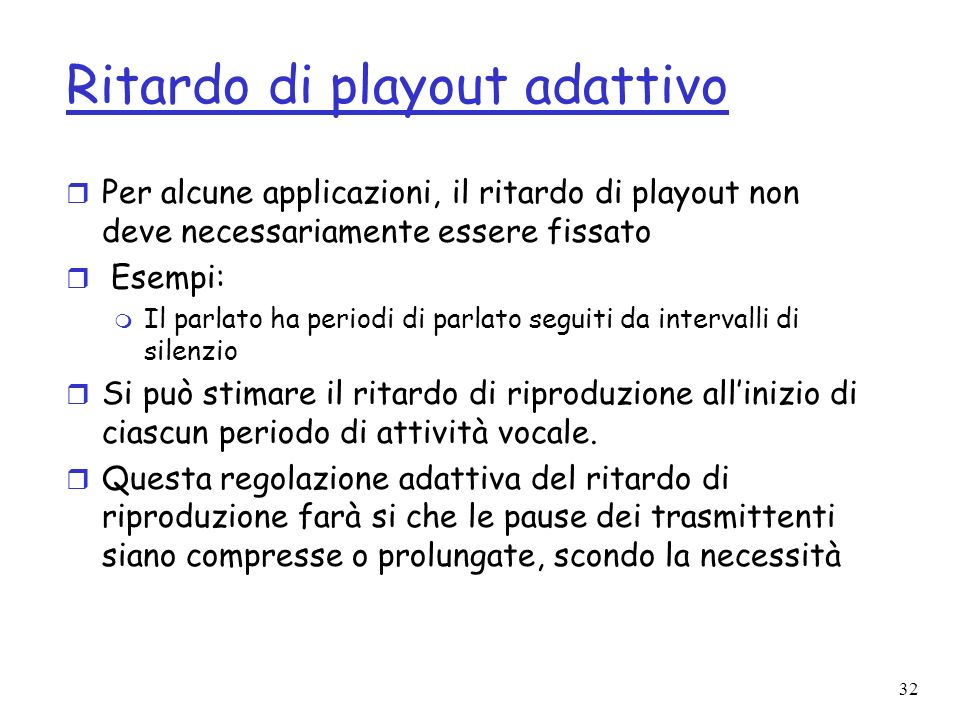 Ritardo di playout adattivo
