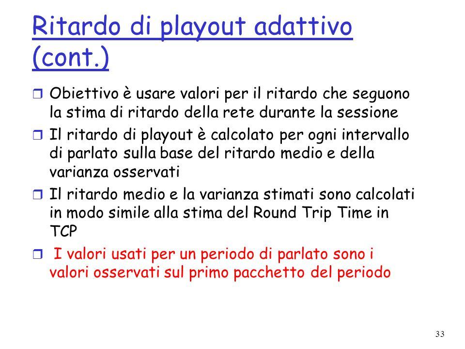 Ritardo di playout adattivo (cont.)