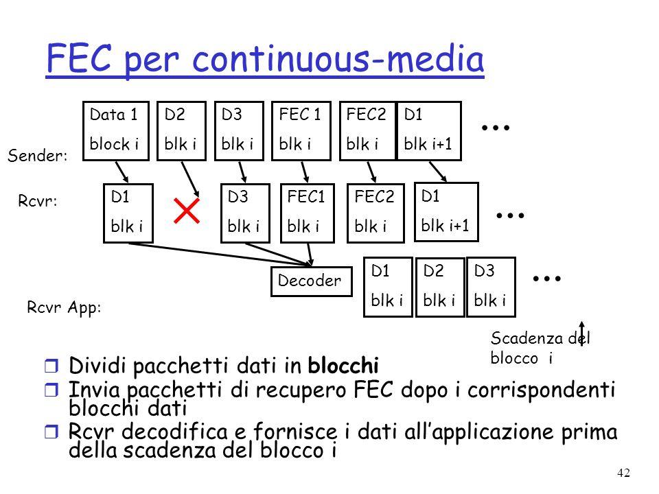 FEC per continuous-media