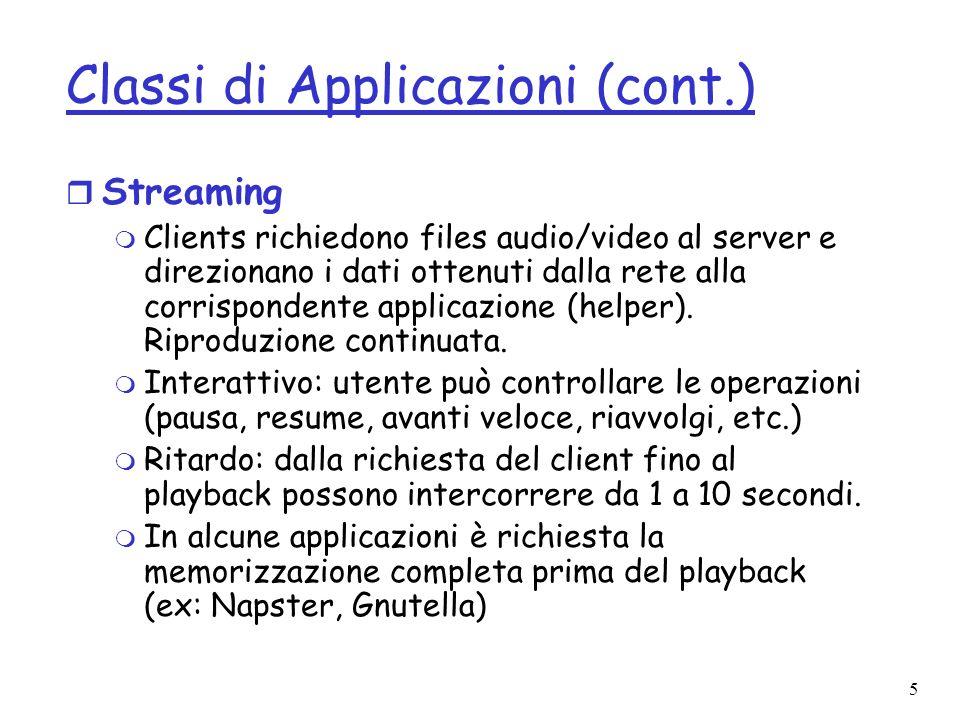 Classi di Applicazioni (cont.)