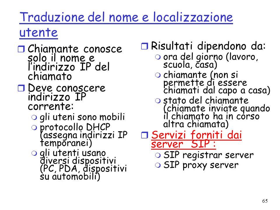 Traduzione del nome e localizzazione utente