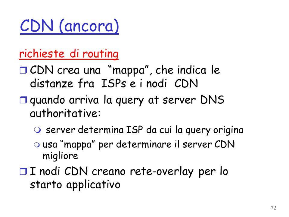 CDN (ancora) richieste di routing