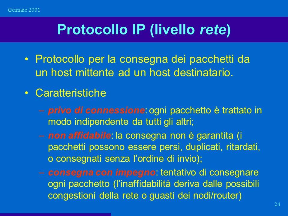 Protocollo IP (livello rete)
